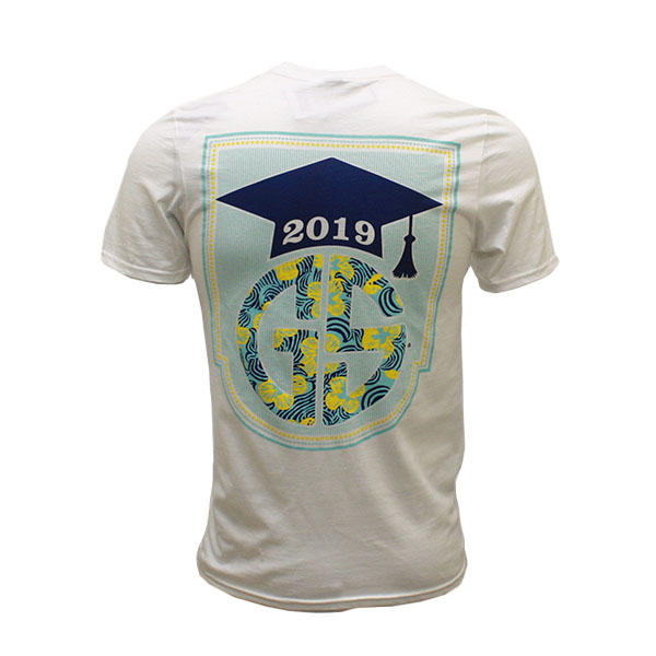 98e8799c99b04e Anvil White T-Shirt w Class of 2019 On Back