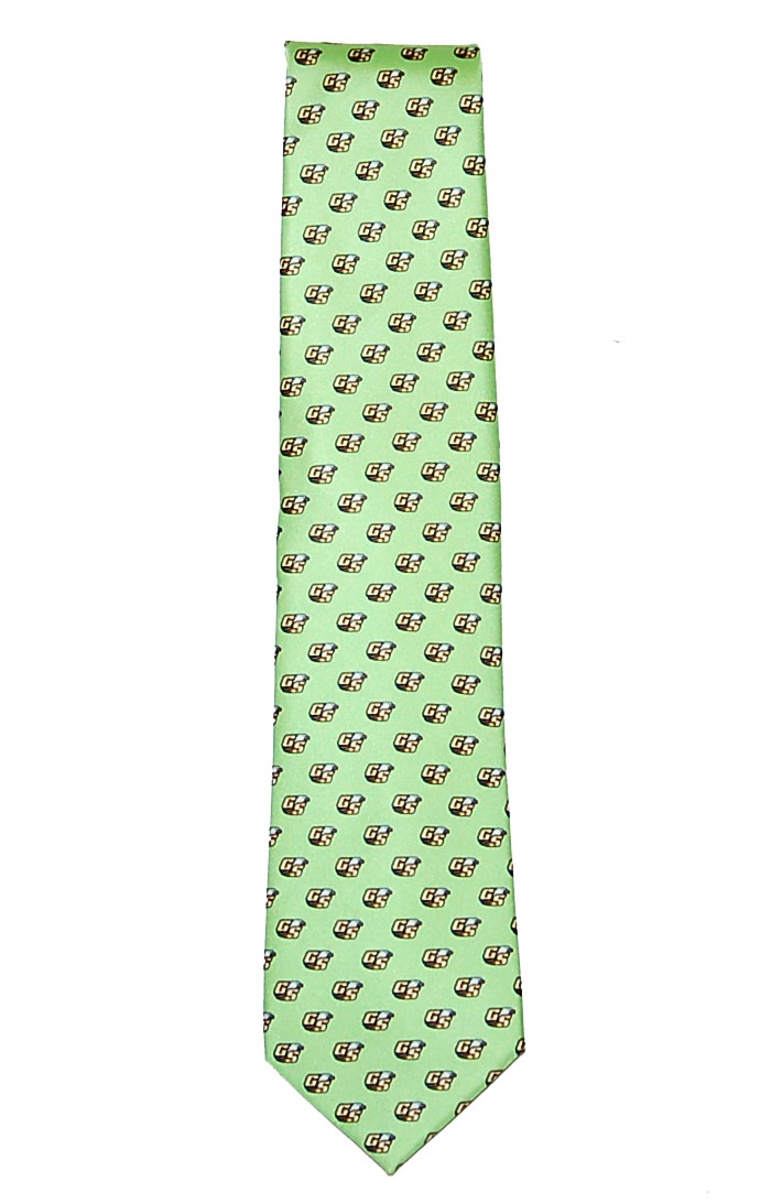Rivetz of Boston Green Silk Tie w/Secondary Logo