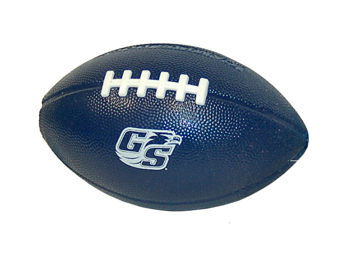 "Navy Campus Dog Football w/Secondary Logo - 6"" x 3.5"""