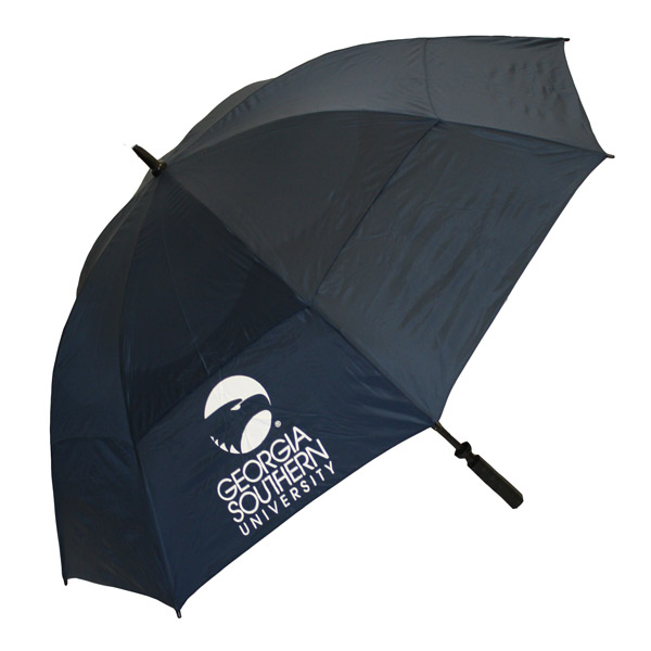 "63"" Navy Golf Umbrella w/Academic Logo"