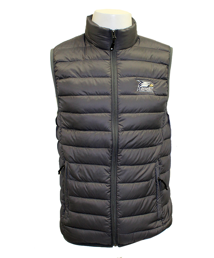 Ultra Light Down Packable Vest w/Embroidered Athletic Logo