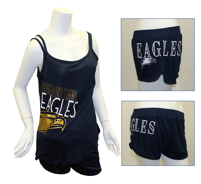 Concept Sport Navy Tank & Short Set w/Eagles & Eagle Head
