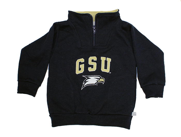 Third Street Navy Youth 1/4 Zip Jacket w/GSU & Eagle