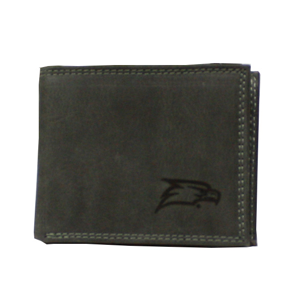 Zep Pro Gray Leather Bifold Wallet w/Eagle Haad