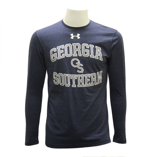 Under Armour Navy Long Sleeve Triblend T-shirt w/GS
