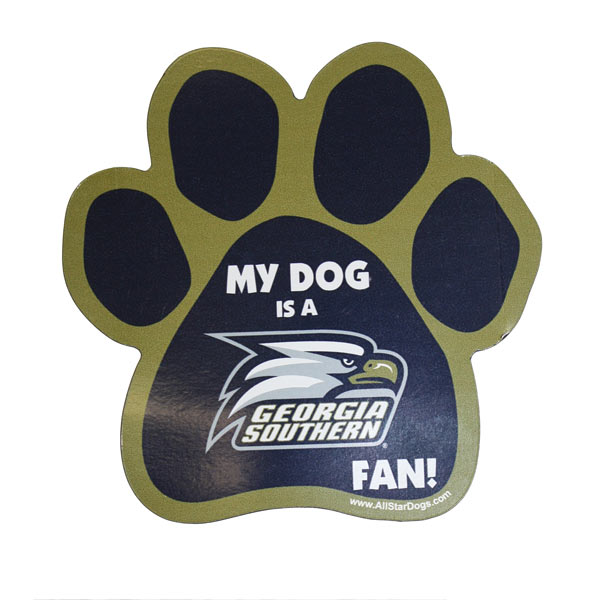 "Paw Magnet w/""My Dog is GS Fan"""