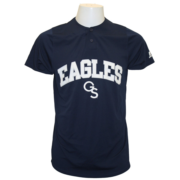 Russell Navy Baseball Jersey w/Eagles GS & GS on Back
