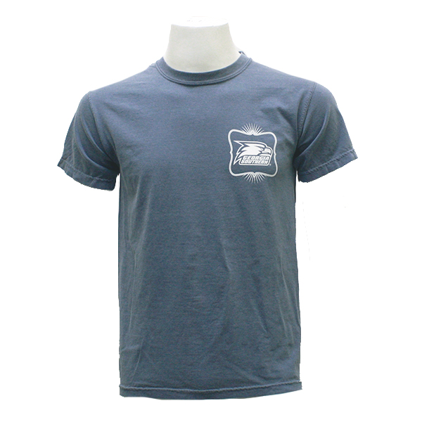 "Pressbox Jean T-Shirt w/""Once an Eagle..."" on back"