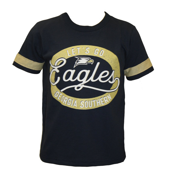 "Third Street Navy/Gold Youth T-Shirt w/""Let's Go.."" /Eagles"