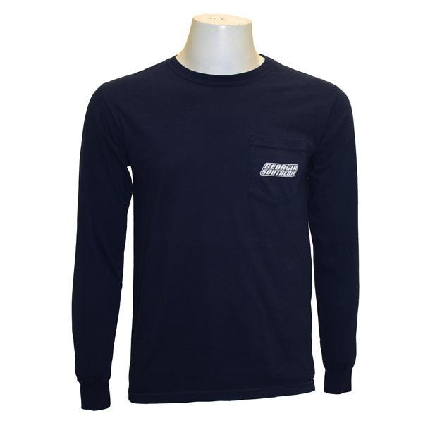 Russel Navy Long Sleeve w/Alumni on Back