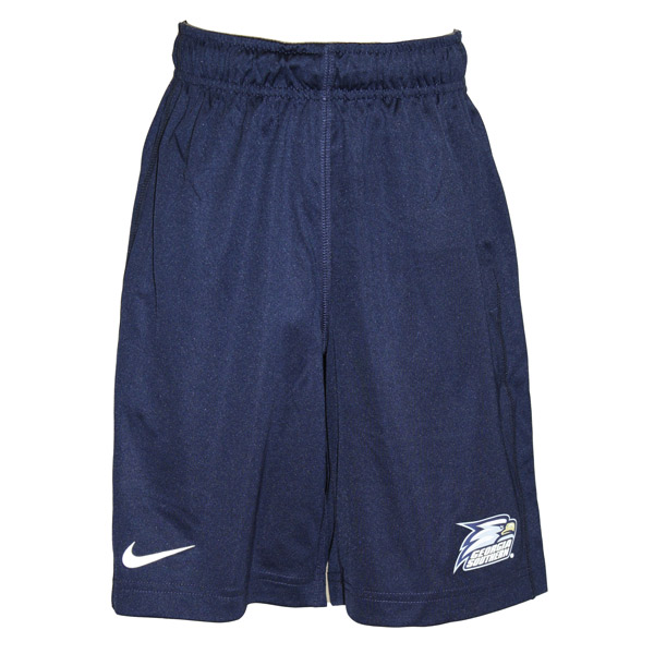 Nike Navy Youth Shorts w/Athletic Logo
