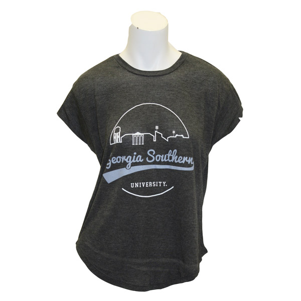 UScape Ladies Gray T-Shirt w/Georgia Southern Scenery