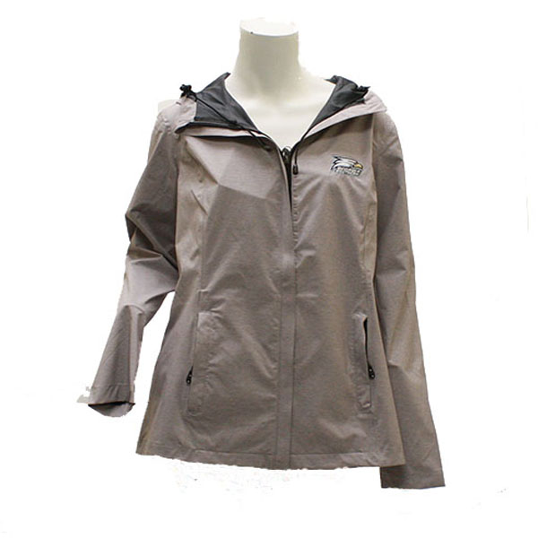MV Sport Grey Ladies Rain Jacket w/Athletic Logo