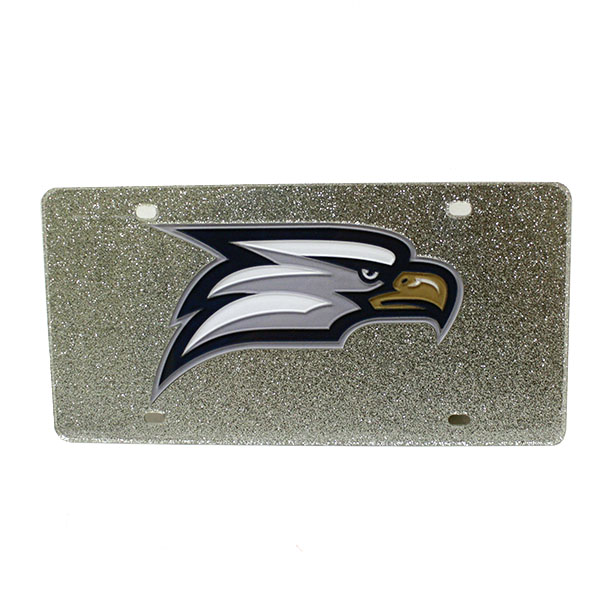 Silver License Plate w/Eagle Head