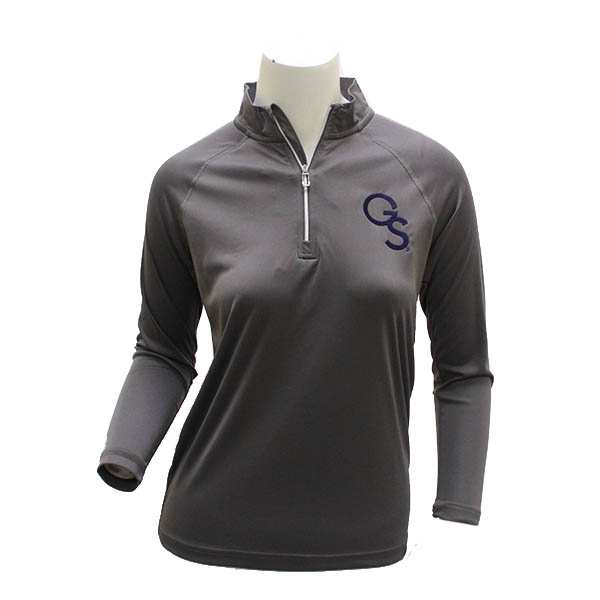 CI Sport Gray Youth 1/4 Zip Jacket w/GS