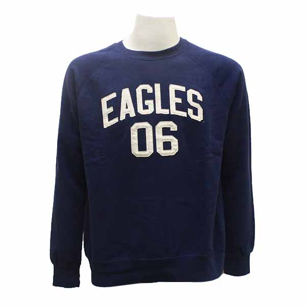 MV Sport Blue Vintage Fleece Raglan Crewneck w/06