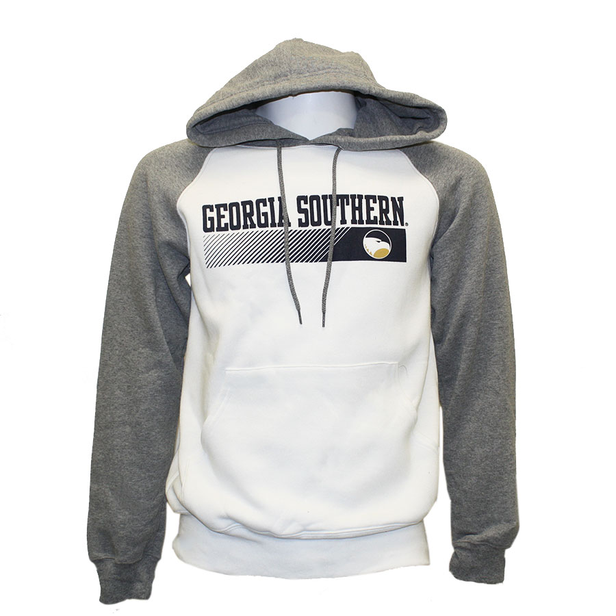 Russell Athletic WHT/GRY Hoodie w/GSU