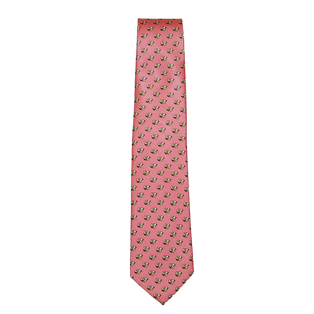 Image For Rivetz of Boston Pink Silk Tie w/Secondary Logo