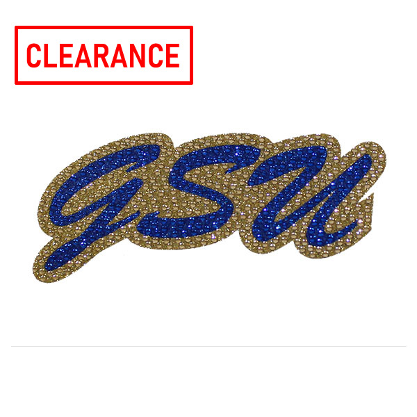 "Image For 3"" x 6"" Glitter Decal - GSU"