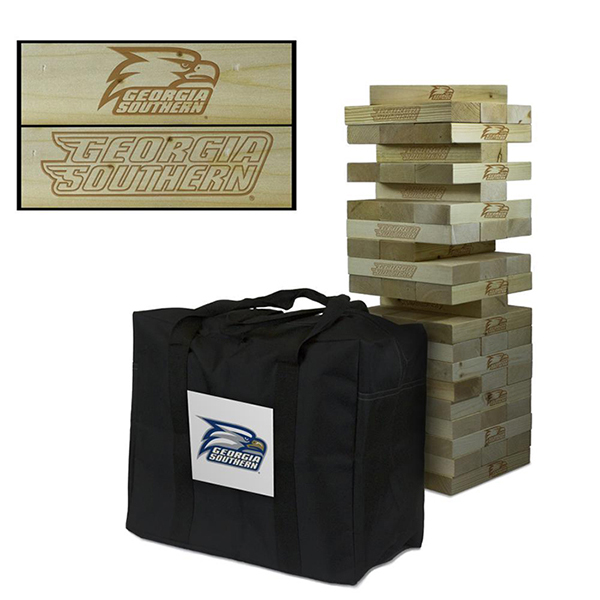 Image For Eagles GSU Wooden Tumble Tower Game w/Athletic Logo