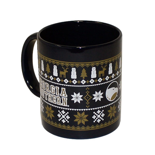 Image For Navy Ugly Sweater Mug w/GS & Academic Logo
