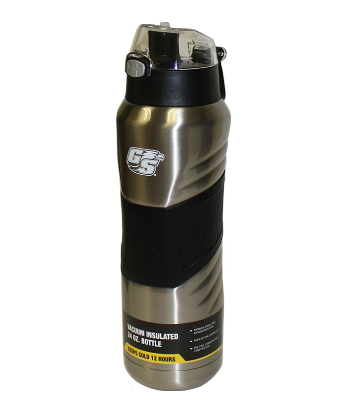 24oz Under Armour Silver Dominate Insulated Water Bottle