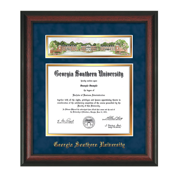 Image For Rosewood Diploma Frame w/3-D Campus Collage