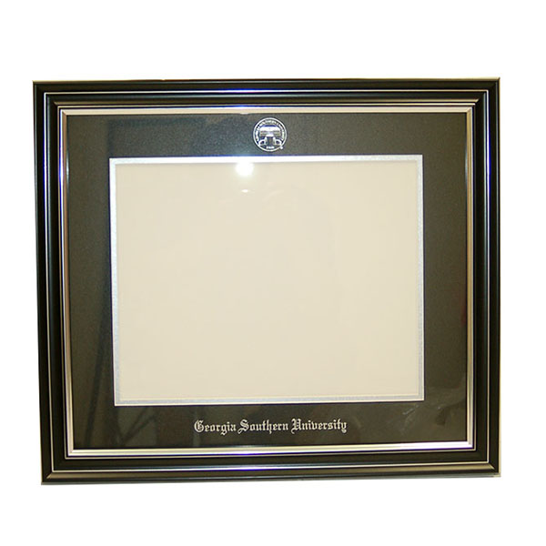 Image For Professional Framing Satin Silver Black Moulding w/Seal