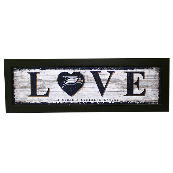 "Image For Framed Sign ""Love"" w/Eagle Head"
