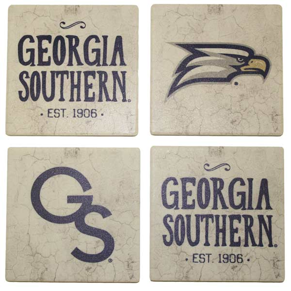 Image For 4pc GSU Stone Coaster Set