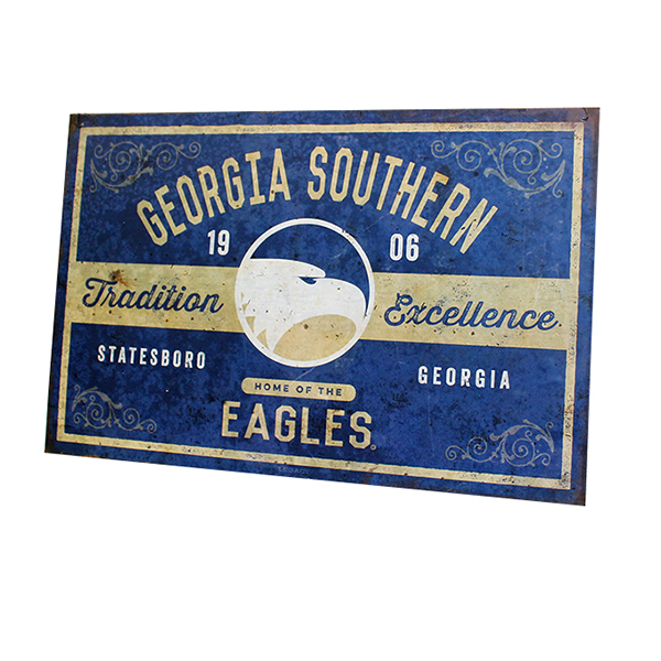 "Cover Image For Legacy 17"" x 11"" Metal Sign w/Academic Logo & Eagles"