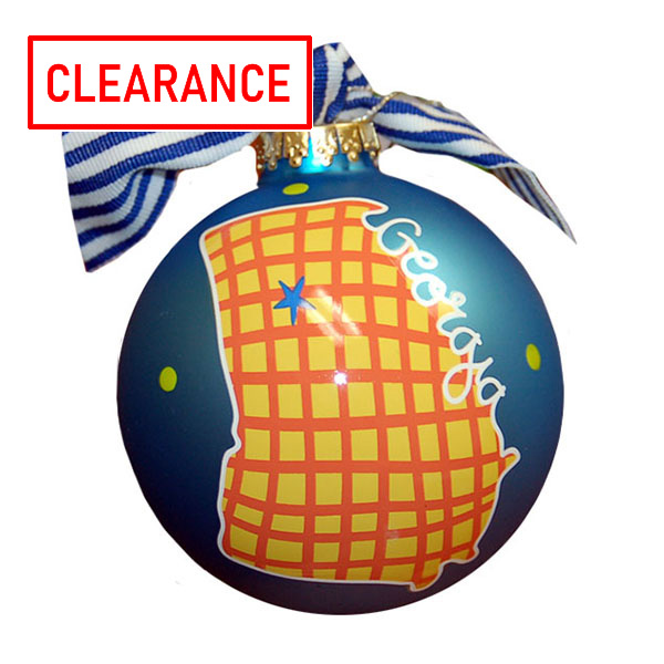 Image For Ornament Blue State of GA