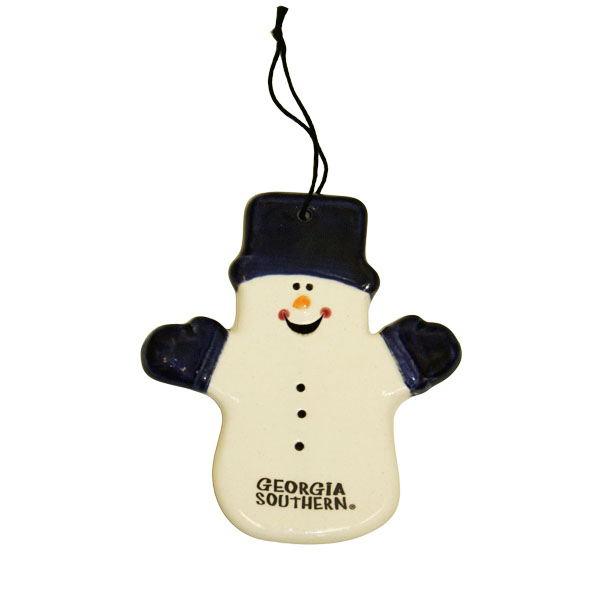 Image For Claude the Snowman Ceramic Ornament