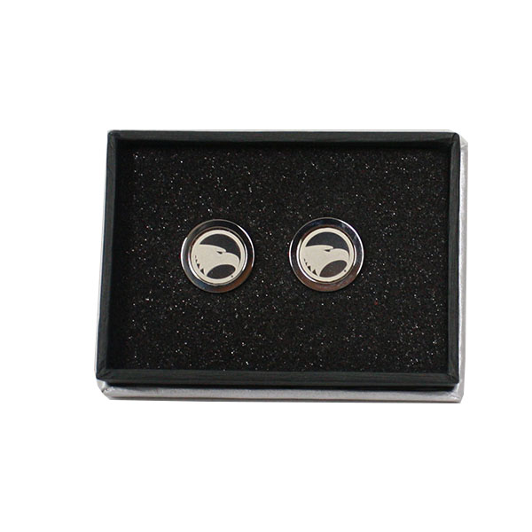 Cover Image For CSI Silver Cufflinks w/Academic Logo