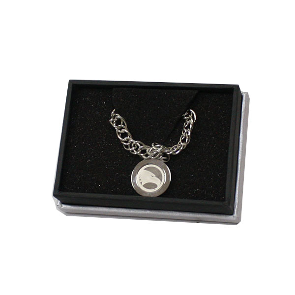 Cover Image For CSI Charm Silver Bracelet w/Academic Logo