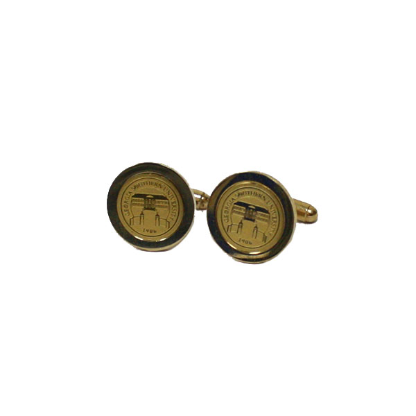 Image For CSI Gold Cufflinks w/Engraved Seal