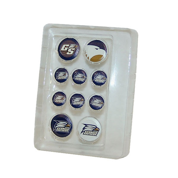 Image For Button Covers w/Secondary Logo, Academic Logo &Athletic Logo