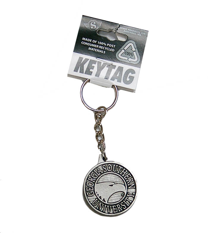Image For Pewter Key Tag w/Eagle Head