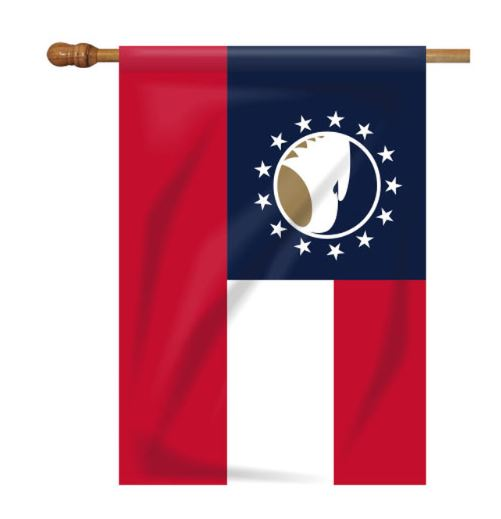 Cover Image For JayMac Georgia House Flag w/Academic Logo