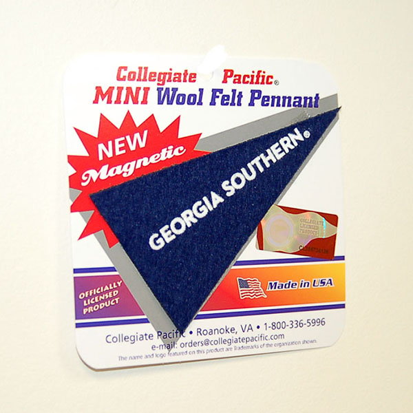 Image For Collegiate Pacific Navy Mini Wool Felt Magnetic Pennant w/GS