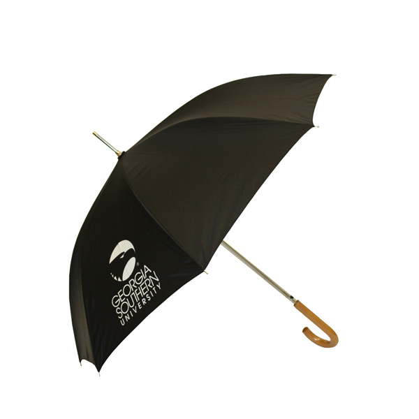 "Image For 46"" Black Umbrella w/Academic Logo"