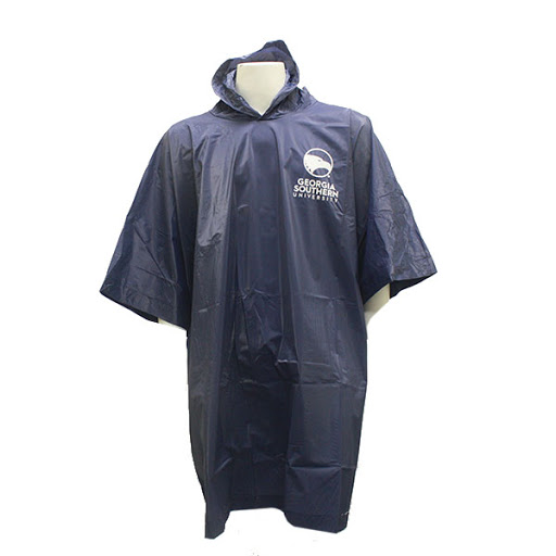 Image For GameDay Navy  GASO Rain Poncho w/Academic Logo
