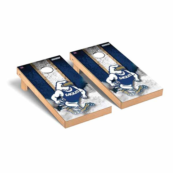 Image For Cornhole Navy/White Stripe Game Set w/GUS