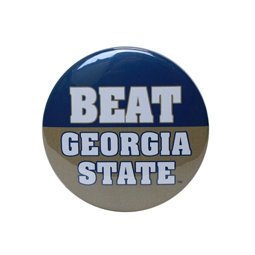 "Image For 3"" Navy&Gold ""Beat Georgia State"" Gameday Button"