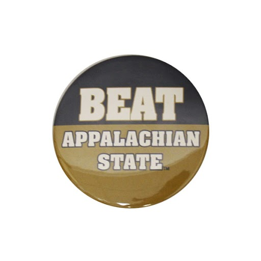"Image For 3"" Navy&Gold ""Beat App State"" Gameday Button"