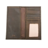 Cover Image for Zep-Pro Brown Pull-Up Leather Long Secretary Embossed Concho