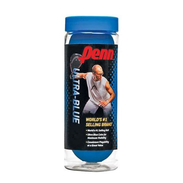 Image For Penn Ultra-Blue Racquetballs 3 Ball can