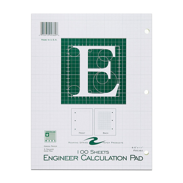 Image For 100 Count Engineer Calculation Pad