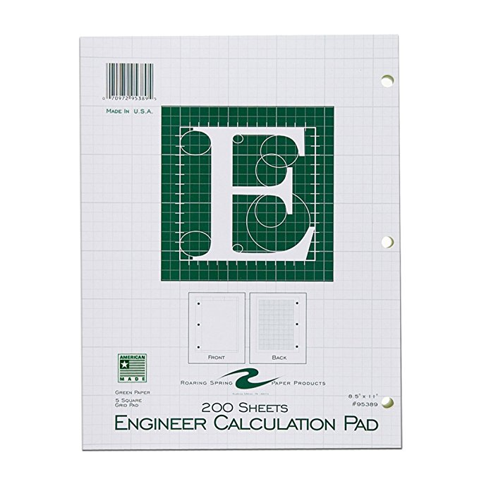 Image For 200 Count Engineer Calculation Pad