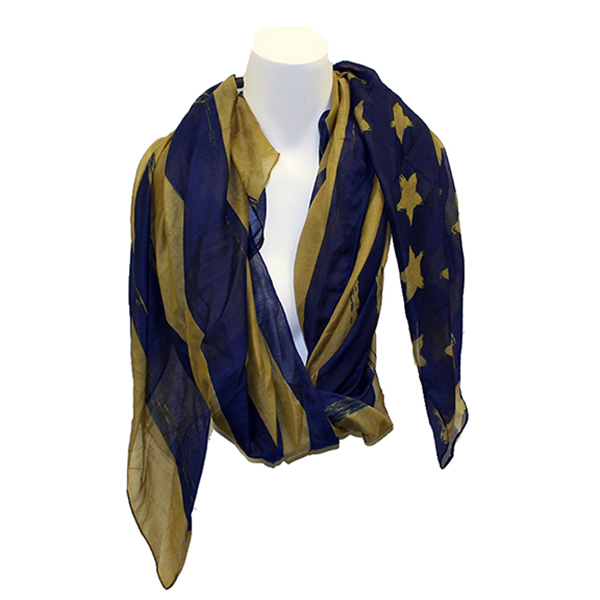 Image For Alma-Meter Collection Navy/Gold Flag Scarf